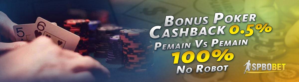 bonus poker cashback spbo bet spbobet